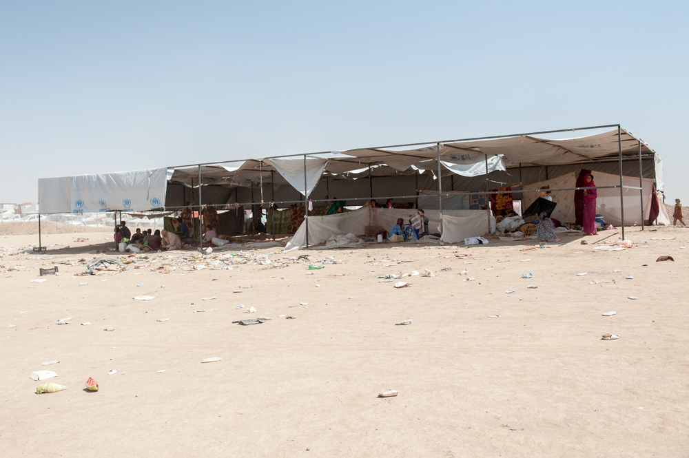 Living in tents in Khazar IDP Camp in Mosul, Iraq